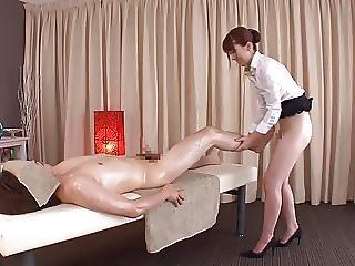 азиатский, CFNM, японский, массаж, дразнение
