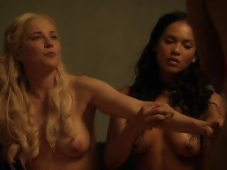Lucy Lawless, Lesley-ann Brandt -spartacus S1e06 Delicate Things