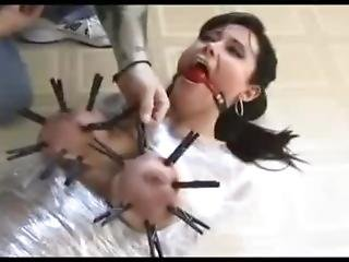 Dumb Cunt Christina Carter Gets Clamp Tortured While Wrapped And Ballgagged