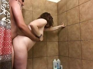 Milf Getting Fucked In Shower