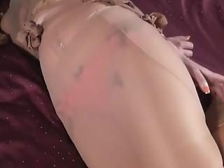 Pantyencased On Bed