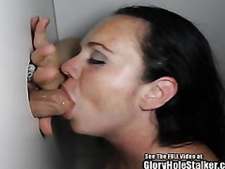 Blowjob, Brunette, Choking, Dick, Fucking, Gloryhole, Oral