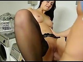 Big Ass German Beauty Fuck In Laundry From Her Neighbor