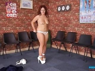 Redhead Nurse Striptease - Boppingbabes