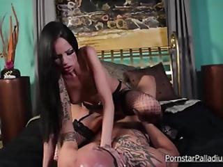 Chesty Hot Babe In Fishnets Gets Destroyed