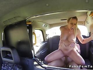 Huge Tits Blonde Cab Driver Fucks Big Dick