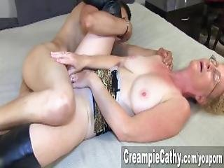 Massive Anal Creampie For Milf