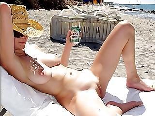 Playa, Nudista, Afuera De, Publico