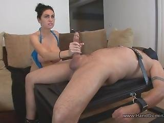 Orgasm Torture As Slave Is Edged To Cumplosion