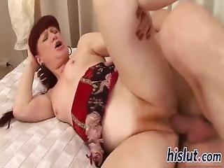 Redhead Slag Has Her Hairy Twat Rammed