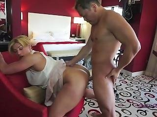 Goddess Rapture Has Employee Lick Her Pussy And Fuck Her
