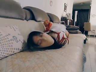 Chinese Beauty Pantyhose Gagged