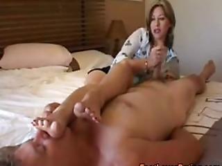 feet face handjob