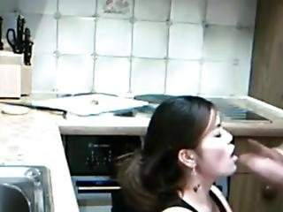 Asian Gets A Rough Fuck In The Kitchen