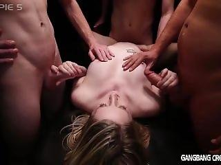 Sexy Blonde Summer Loves It When A Group Of Strangers Gangbangs Her