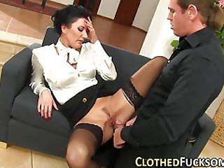 Classy Euro Slut Spermed