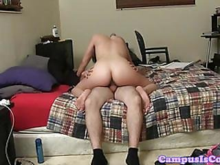 Girlfriend Facialized After Riding Dick
