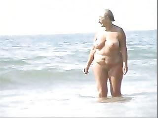 Old Couples At Nude Beach