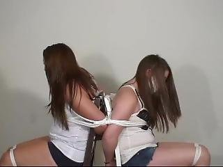 Two Girls Gagged With Packing And Microfoam Tape