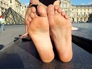 Beautiful Soles On A Beautiful Brunette