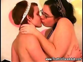 Ametérské, Balónek, Zkušené, Zabavné, Hry, Domov, Domácí, Líbání, Lesba, lesbická Mladý, mladý Holky
