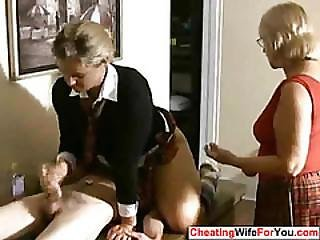 Mature Woman Give Handjob