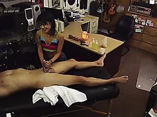 Pawnshop Owner Tricked This Asian Chick To Give Him A Free Massage Treat And Ends Up Pussy Fucked