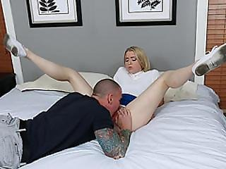 Sexy Blonde Skinny Teen Gets Her Pussy Filled With Cum