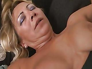 Sarah Blonde Senior Citizen Mama Picked Up Monster Dick For Longing Pussy