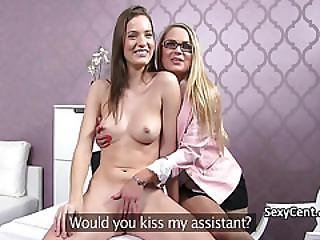 Teen Got Lesbo Action On Casting