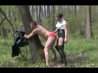 Strapon In The Forest By Natalia Aron Mistress Luna And Slave Mimi
