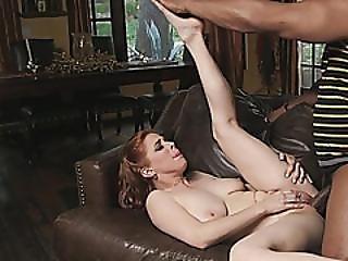 Redhead Chick Penny Pax Takes Huge Black Schlong