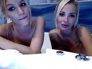 Russian Webcamgirl With Big Tits And Blond Girlfriend Private Show