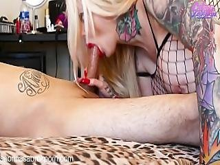 Sabrina Sabrok Deepthroat Long Finger Nails Fishnet