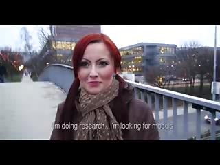 Czech Redhead Is Paid Cash To Flash And Suck Dick