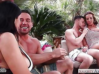 Blowjob, Brunette, Fucking, Hardcore, Outdoor, Pornstar, Rich, Wife