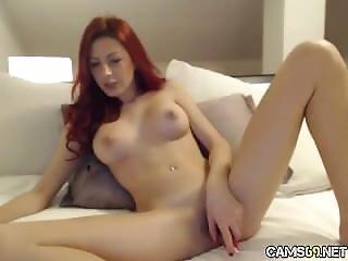 Sexy Redhead Milf Nice Tits On Webcam