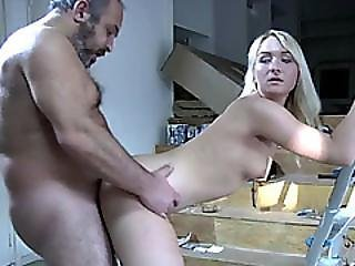 Horny Blonde Teen Gets Fucked By This Older Guy Hard
