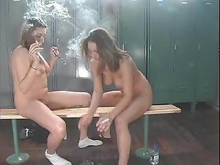 lesbian smoking fetish porn