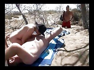 Oral Sex On The Beach In Front Of A Stranger