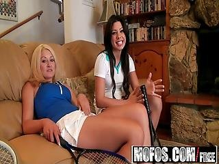 Mofos - Pervs On Patrol - Tennis Lessons How To Handle The Balls Starring Summer Slate And Gemma