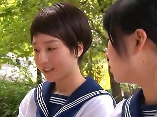 Wet Clothing School Girls That Furukawa Iori Dripping Rain, Sweat