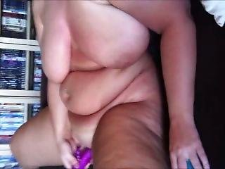 Fat Chick With Huge Titties Masturbates