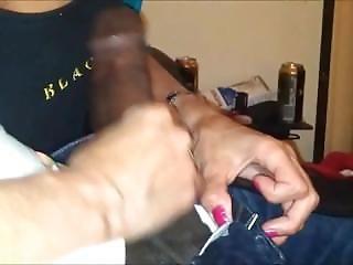 Horny Grandma Sucking A Black Shaft