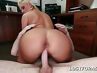 Office Slut Bent Over The Desk And Banged Hard