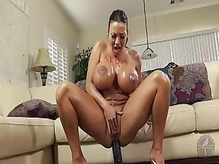 anal, røv, stort bryst, dildo, kneppe, alene