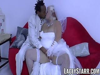 Laceystarr Granny Bride Fed With Cum After Bbc Pounding