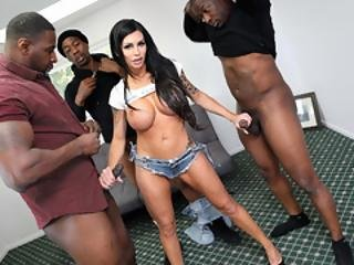 Melissa Lynn Interracial Gangbang
