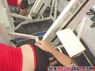 Innocent Chick In Hot Butt And Leg Exercise