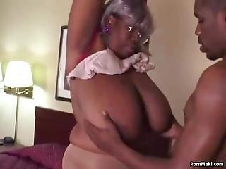 Fat Ebony Grandma Enjoys Getting Fucked Hard